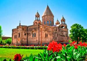 Echmiadzin (Hripsime, Gayane, Mother Cathedral from outside, Museum
